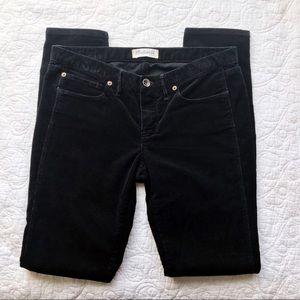 Madewell Black Skinny Low Corduroy Jeans Size 28